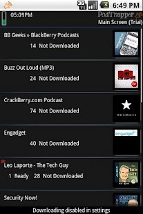 PodTrapper Podcast Manager - screenshot thumbnail