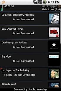 PodTrapper Podcast Manager - screenshot thumbnail