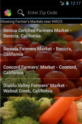 Farmers Market Finder