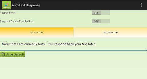 Auto Text Response