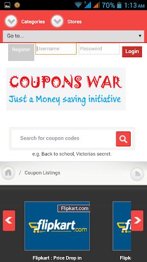 Coupons War - Offers Deals