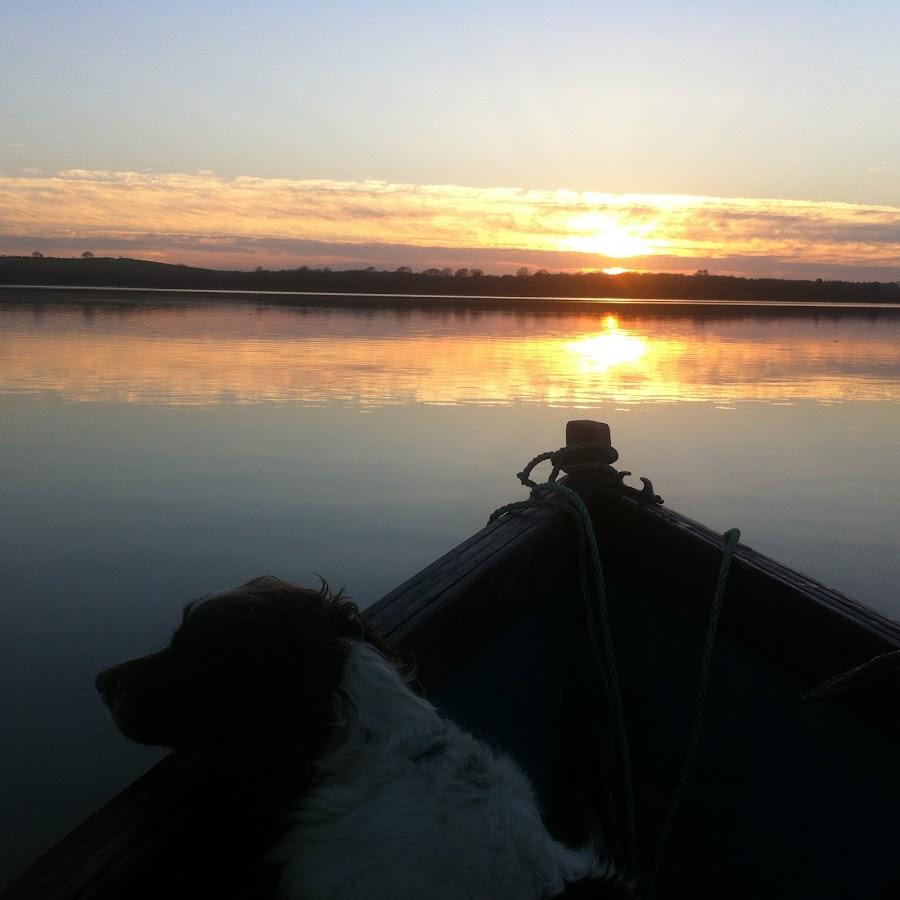 Tess in our boat by Linda Shadrach - Uncategorized All Uncategorized