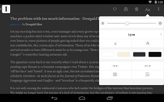Screenshot of Instapaper