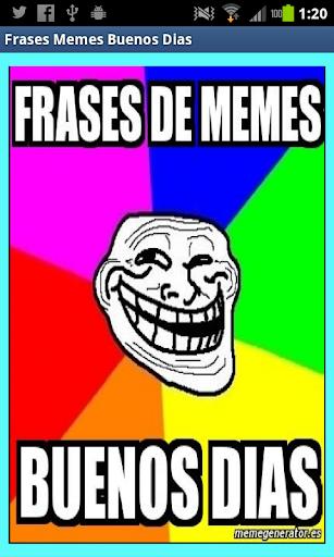 Frases Memes buenos dias