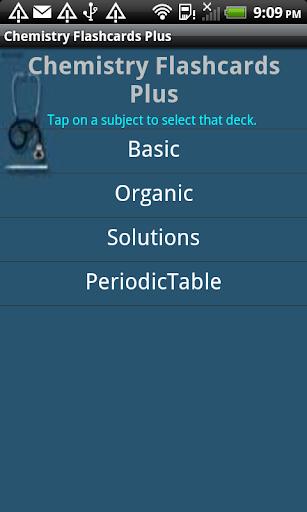 Chemistry Flashcards Plus