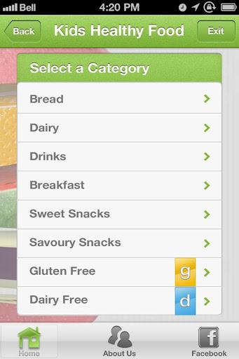 Kids Healthy Food App