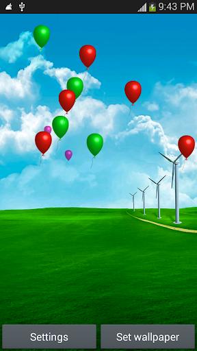 氣球飛行動態壁紙