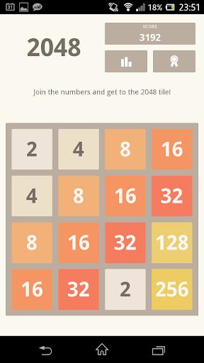 2048 using Kivy