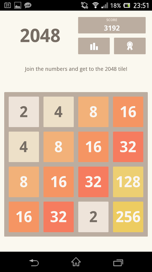 2048 (using Kivy)- screenshot