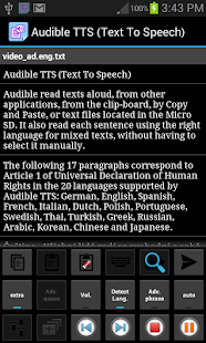 Audible TTS (Text To Speech) - screenshot thumbnail