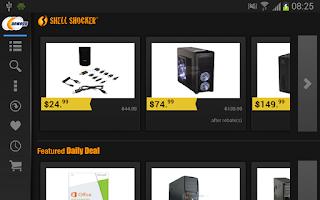 Screenshot of Newegg for Google TV