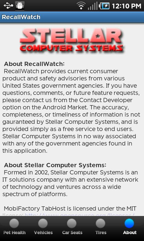 Recall Watch - screenshot