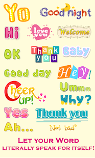 WordArt Chat Sticker for C - screenshot thumbnail