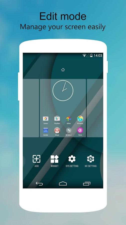 KK Launcher Lollipop & Kitkat v5.7 APK Full indir