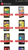 Screenshot of Mobile Phones