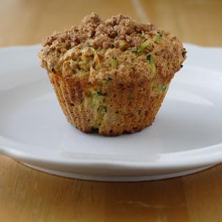 Zucchini Muffins with Cinnamon-Crumb Topping.