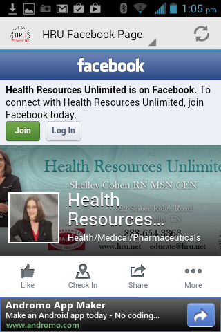 Health Resources Unlimited App- screenshot