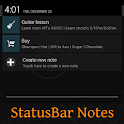 Quick Notes in Statusbar icon