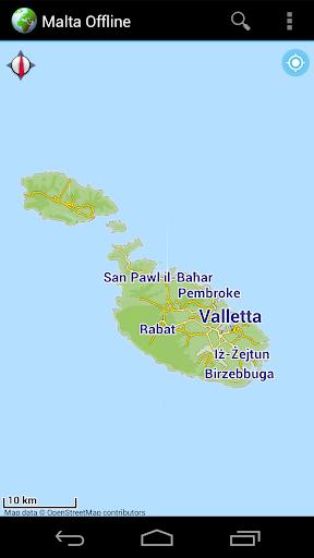 Offline Map Malta Gozo Comino