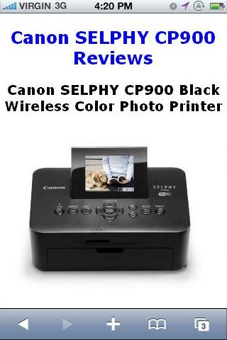 SELPHY CP900 Printer Reviews