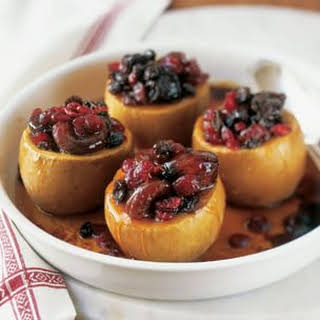 Baked Apples Filled with Apricots and Figs.