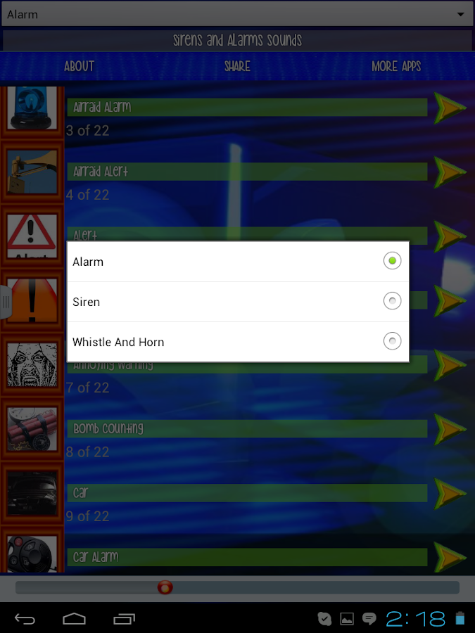 Sirens and Alarms - screenshot