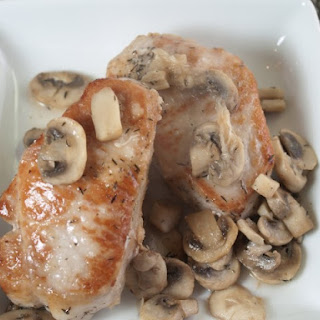 Pork Chops With Beer-Mushroom Sauce