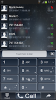 Screenshot of GO Contacts Theme Universe