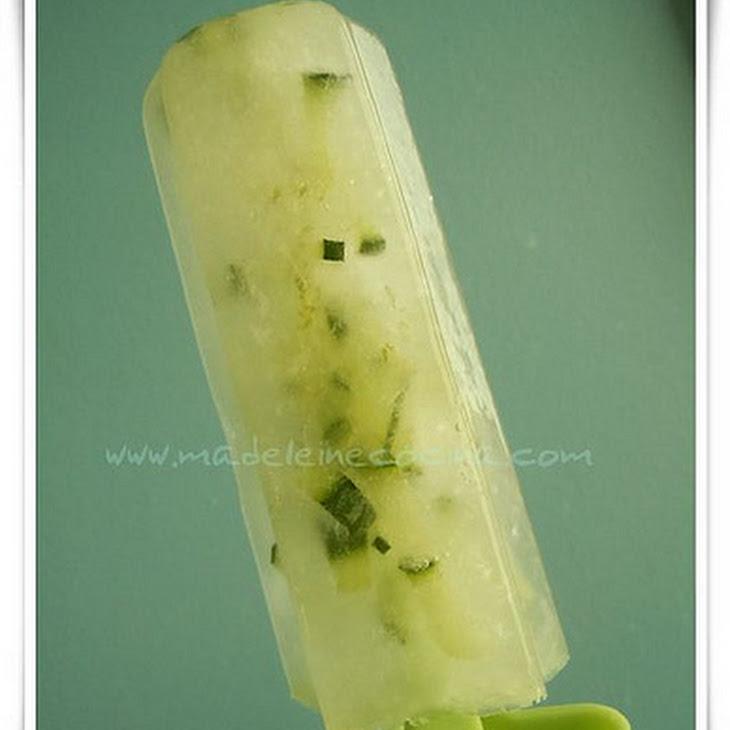 Lemon and Cucumber Popsicles Recipe