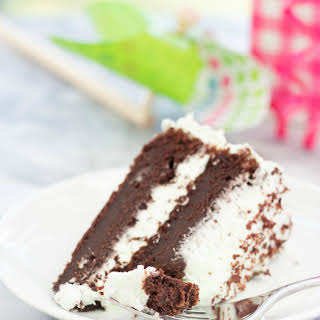 Rich and Fudgy Chocolate Cake with Mint Buttercream.