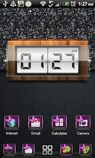 THEME - Purple Zebra Butterfly - screenshot thumbnail