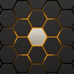 Super Hexagon Grid Wallpaper