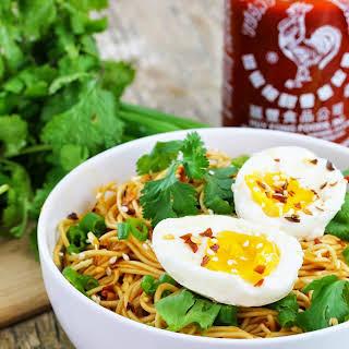15 Minute Sriracha Ramen Noodles.