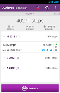 Runtastic Pedometer Step Count - screenshot thumbnail