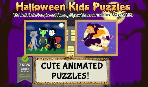 玩教育App|萬聖節兒童拼圖適合幼兒,男孩和女孩的海盜,吸血鬼和木乃伊遊戲免費|APP試玩