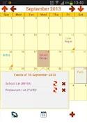 Screenshot of My Calendar