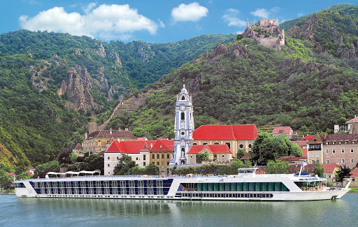 AmaDagio-on-Danube-River-Durnstein-Austria - Sail on AmaDagio to Dürnstein, a picture-perfect  town on the Danube River in Austria. Famed as a wine-growing region, it's one of the most visited destinations in the Wachau region.