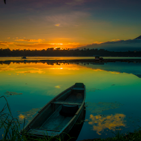 Sunrise in The City of Seven Lakes by Juanito Bumactao - Landscapes Sunsets & Sunrises ( water, device, transportation, Hope,  )