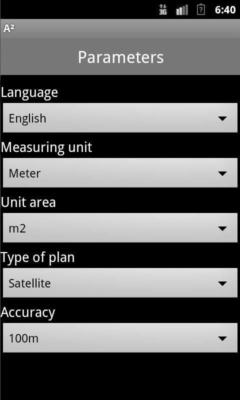 A2 - Area Measurement - screenshot