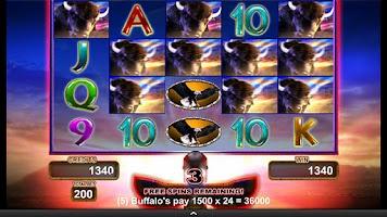 Screenshot of Buffalo Gold Video Slot Game