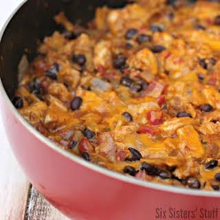 Chicken and Black Bean Enchilada Skillet.