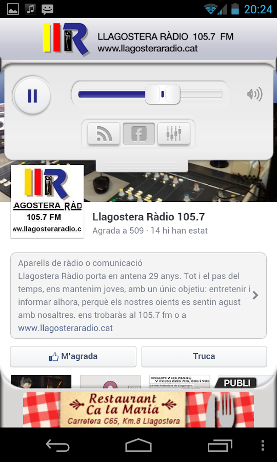 Llagostera fm- screenshot