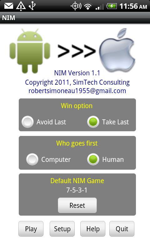 Nim For Tablets- screenshot