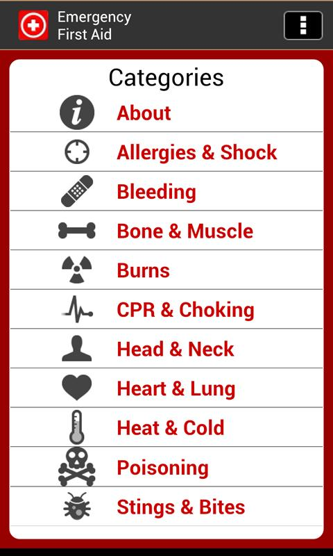 Emergency First Aid/Treatment - screenshot