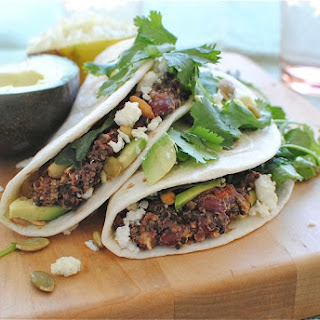 Kidney Bean and Quinoa Soft Tacos.