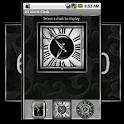 Silver Alarm Clock Widget logo