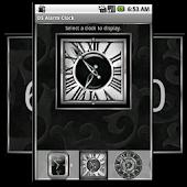 Silver Alarm Clock Widget