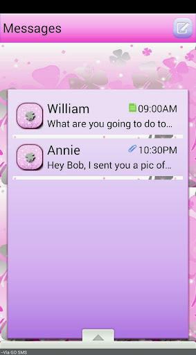 PrettyClover GO SMS THEME