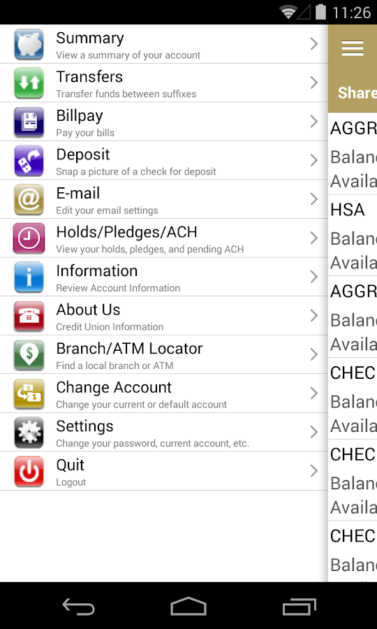 Allentown FCU Home Banking- screenshot