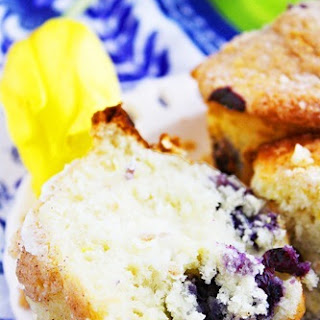 Lemon-Blueberry Crumb Muffins